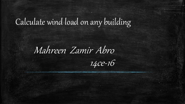 how to calculate wind load on any building