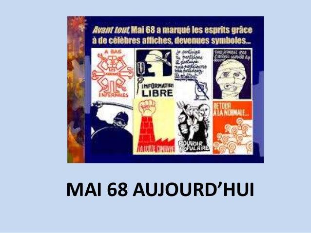 MAI 68 AUJOURD'HUI