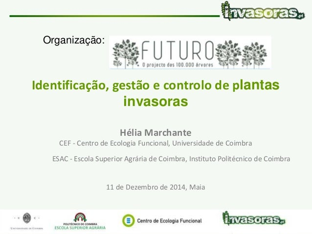 Identificação, gestão e controlo de plantas invasoras|11 Dez.|Maia www.invasoras.pt 1/58 Identificação, gestão e controlo ...
