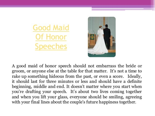 How To Be The Best Maid Of Honor: How To Give A Maid Of Honor Speech