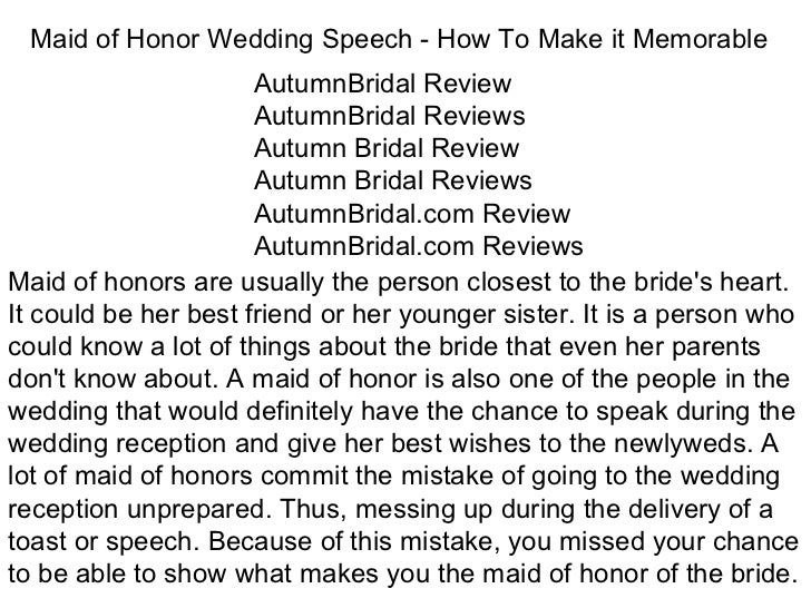 How To Be The Best Maid Of Honor: Maid Of Honor Wedding Speech How To Make It Memorable