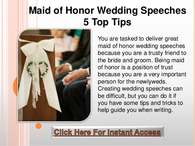 Maid Of Honor Wedding Speeches 5 Top Tips