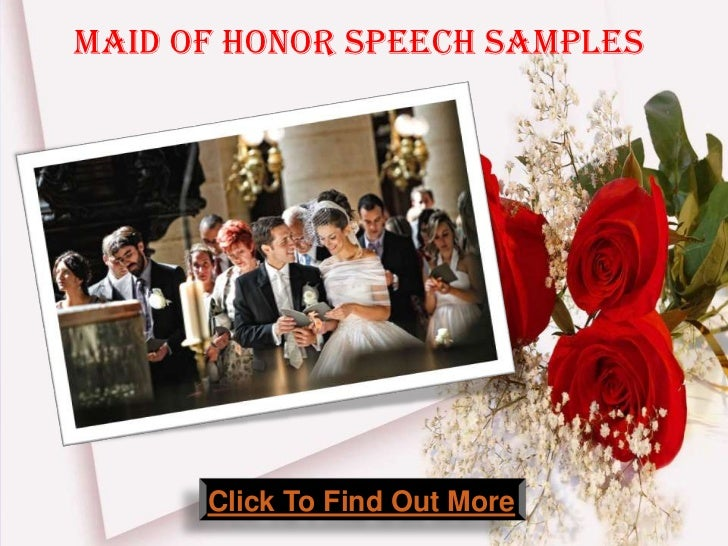 Maid Of Honor Wedding Speech Samples