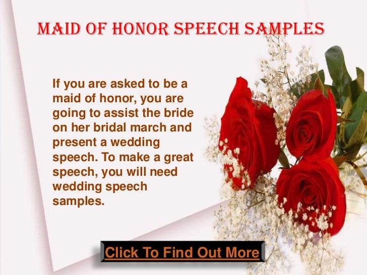Maid Of Honor Speech Samples Click To Find Out More 2