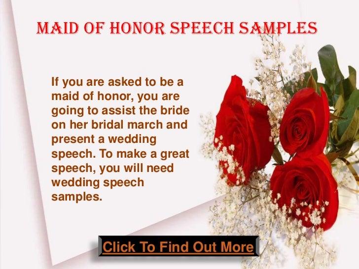 Maid Of Honor Wedding Speech Samples