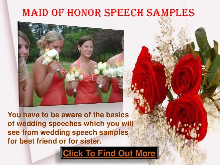 How To Be The Best Maid Of Honor: Maid Of Honor Wedding Speech Samples