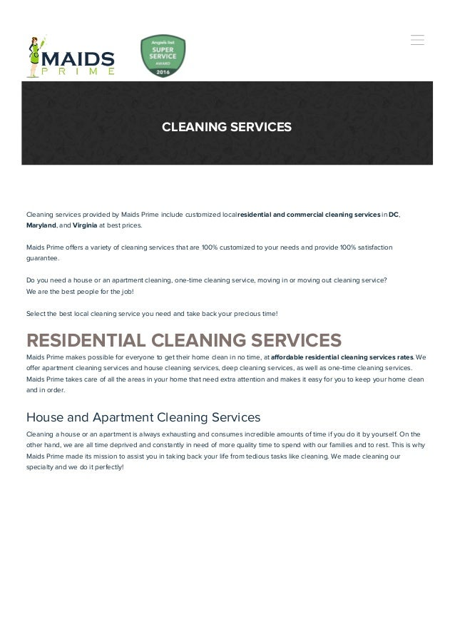Maids Prime Cleaning Services