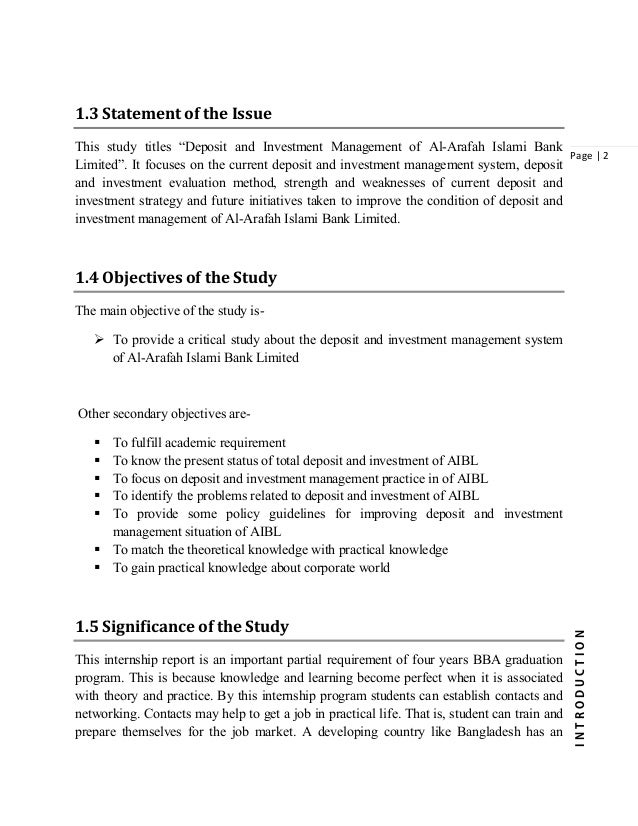 Report Proposal of Investment Mechanism || IBAIS University