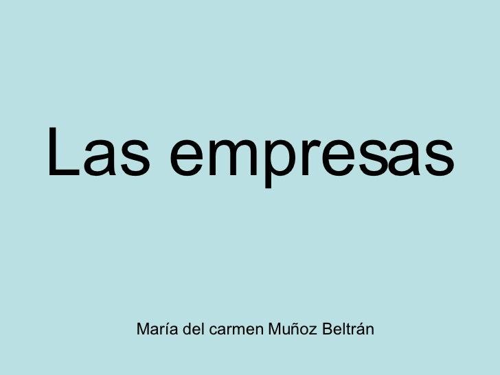 María del carmen Muñoz Beltrán Las empresas