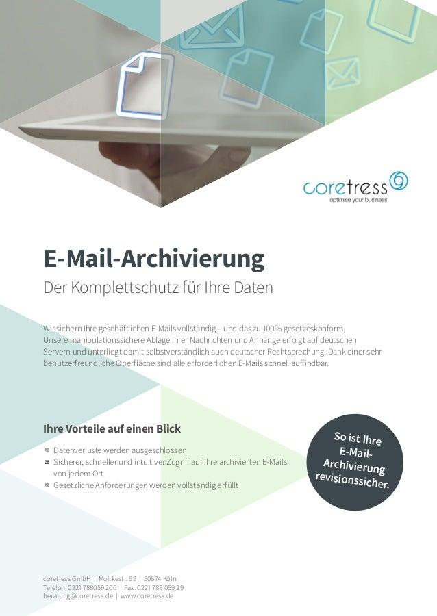 coretress GmbH | Moltkestr. 99 | 50674 Köln Telefon: 0221 788059 200 | Fax: 0221 788 059 29 beratung@coretress.de | www.co...