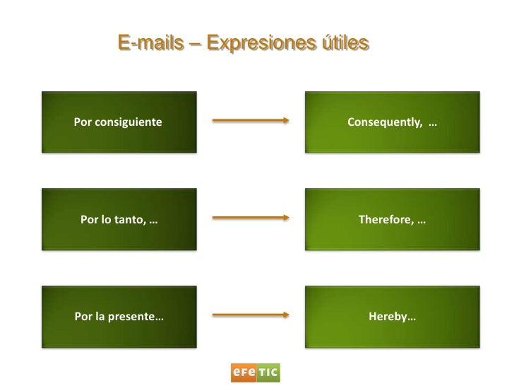Correos electrónicos en inglés (I) Slide 3