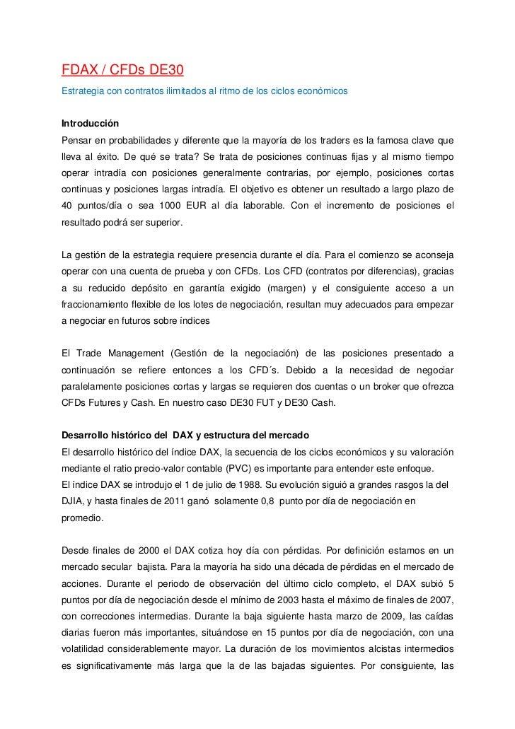 FDAX / CFDs DE30Estrategia con contratos ilimitados al ritmo de los ciclos económicosIntroducciónPensar en probabilidades ...