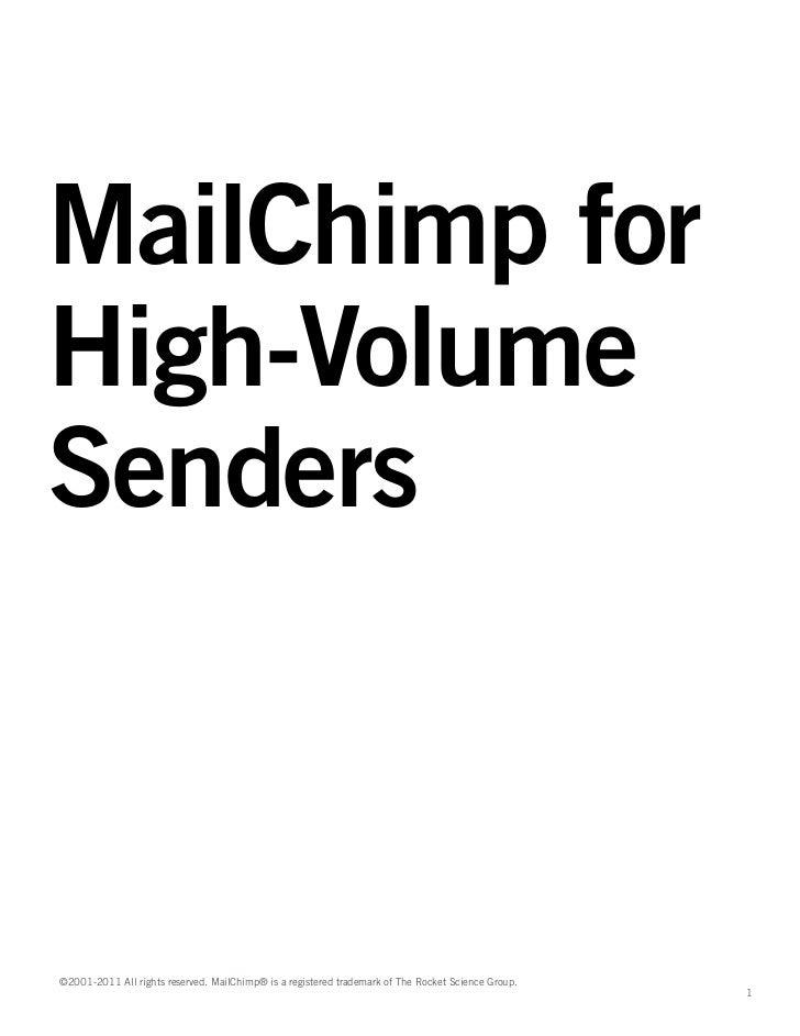 MailChimp For High Volume Senders
