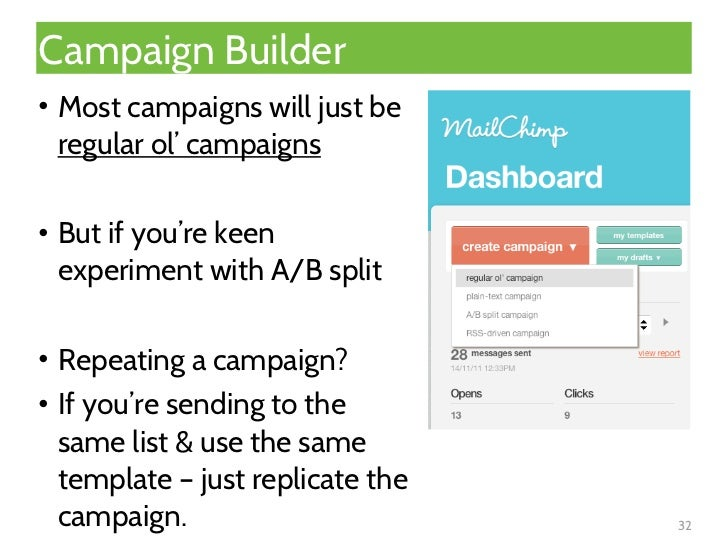 Mailchimp makes e mail marketing easy for Mailchimp create template from campaign