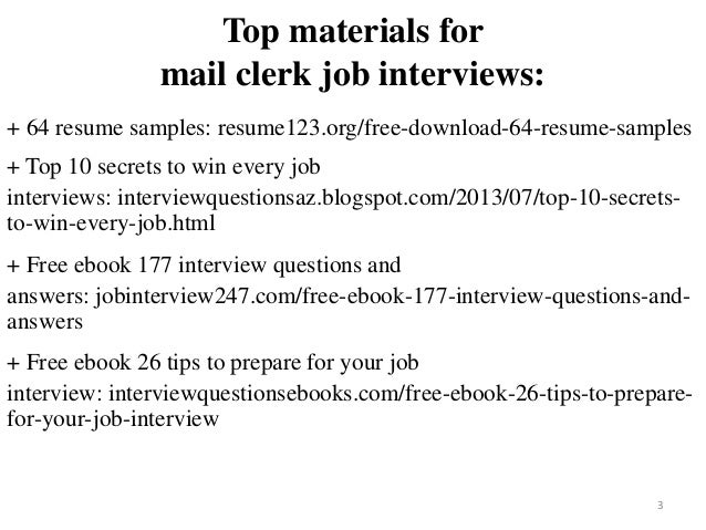 2 3 Top Materials For Mail Clerk