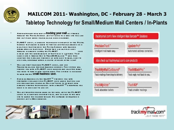 MailCom 2011 - Tabletop Techology for the Small / Medium