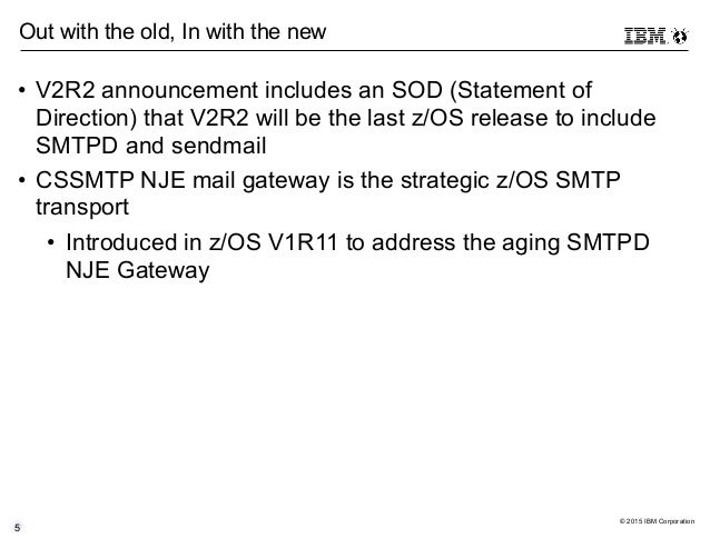 Motivations and Considerations for Migrating from SMTPD