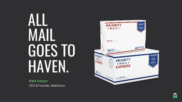ALL MAIL GOES TO HAVEN. Kela Ivonye CEO & Founder, MailHaven