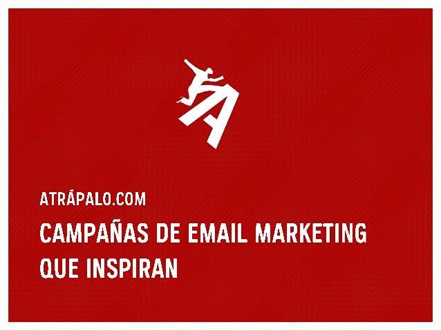 Atrapalo, campañas de email marketing que inspiran