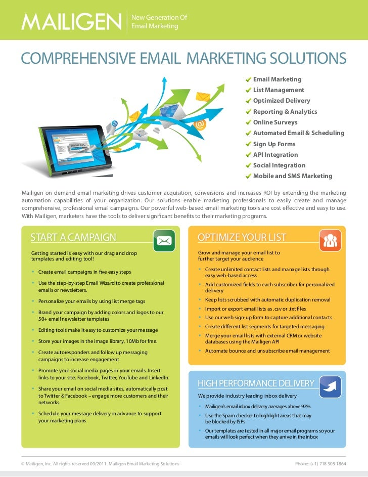 New Generation Of                                                       Email MarketingCOMPREHENSIVE EMAIL MARKETING SOLUT...