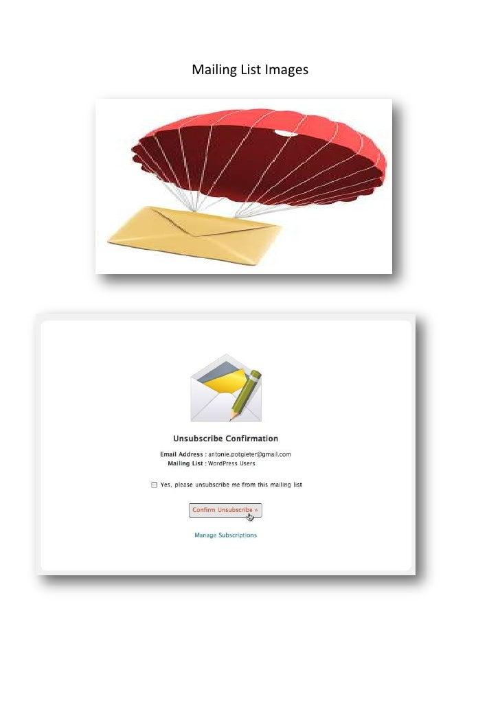 Mailing List Images<br />847725658495<br />