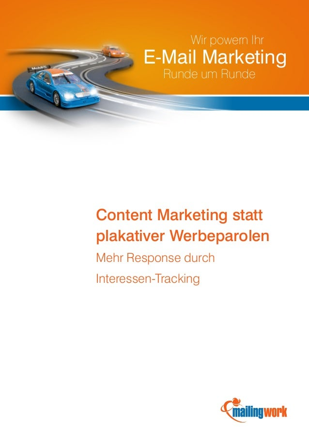 Wir powern Ihr        E-Mail Marketing            Runde um RundeContent Marketing stattplakativer WerbeparolenMehr Respons...