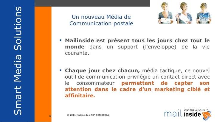 Un nouveau Média de Communication postale <ul><li>Mailinside est présent tous les jours chez tout le monde  dans un suppor...