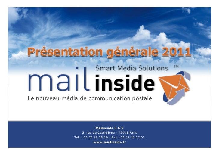 Le nouveau média de communication postale                                                      Mailinside S.A.S           ...