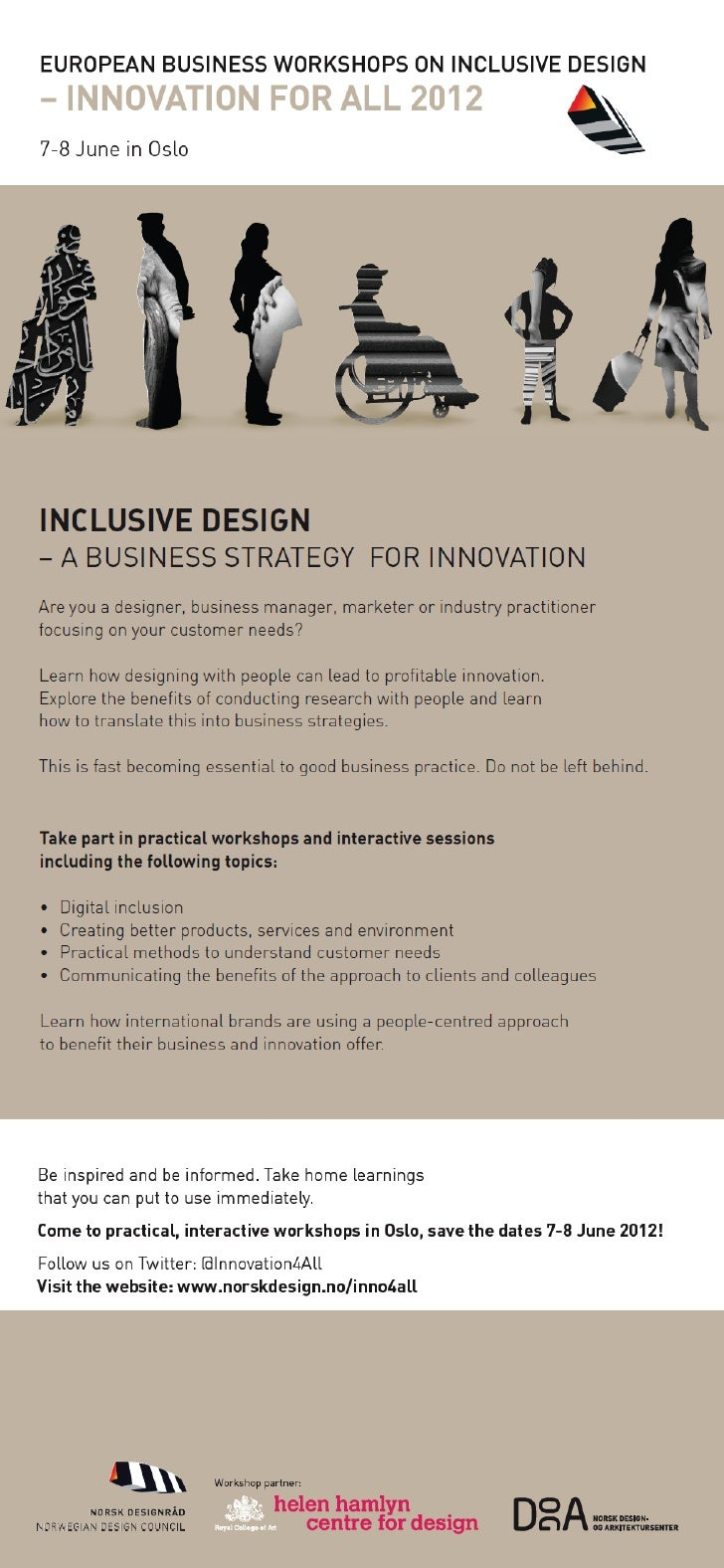 Save the date for European Business Workshops on Inclusive Design 2012