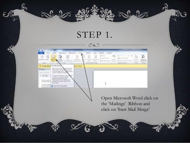 Microsoft word mail merge tutorial.