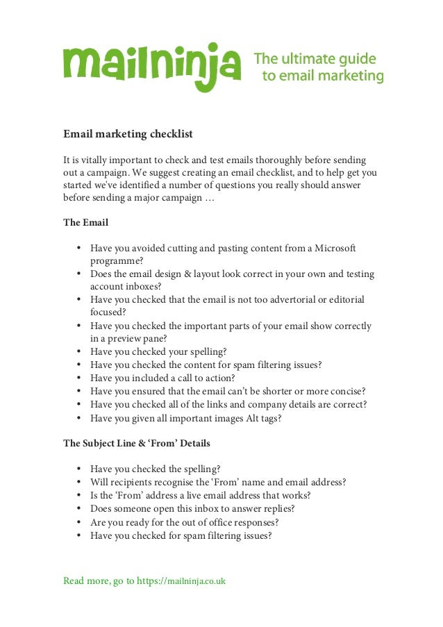 Mailninjas ultimate guide to email marketing fandeluxe Image collections