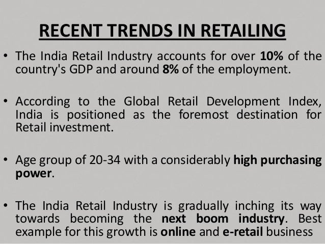 types of retail formats in india Discount stores: these types of stores offer discounts on the retail price by selling high volumes and reaping the economies of scale the value proposition attached to these types of formats is in the name itself - low prices or at a discount.