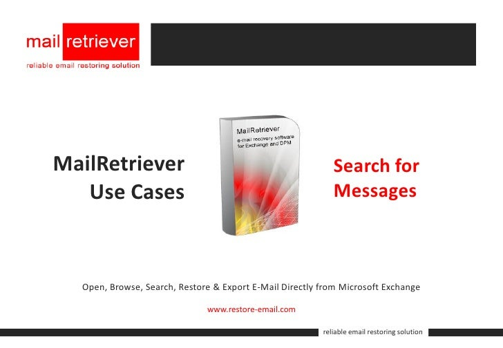 MailRetriever                                               Search for    Use Cases                                       ...