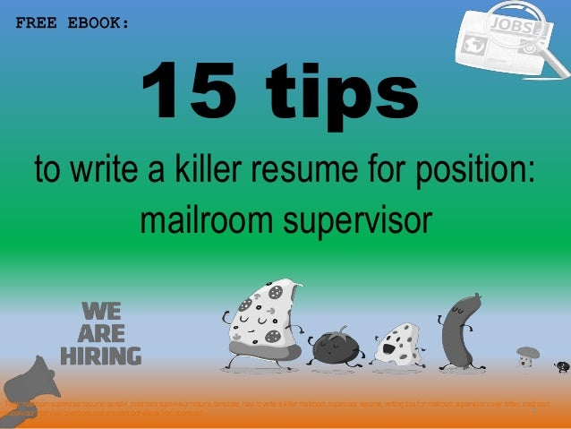 mailroom supervisor resume sample pdf ebook free download
