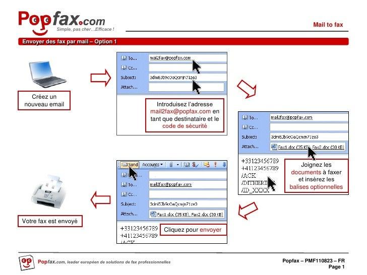Mail to fax              Simple, pas cher…Efficace !Envoyer des fax par mail – Option 1  Créez unnouveau email            ...