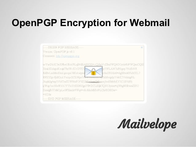 OpenPGP Encryption for Webmail