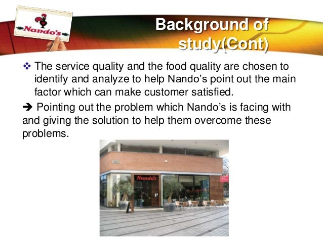 report on nando's a hospitality industry