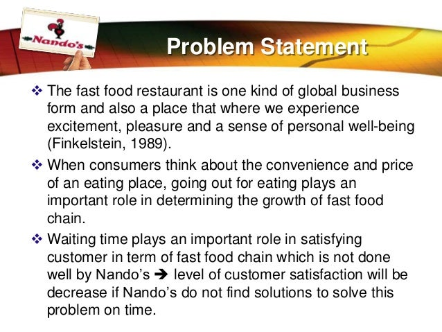 Customer Satisfaction In NandoS Restaurant