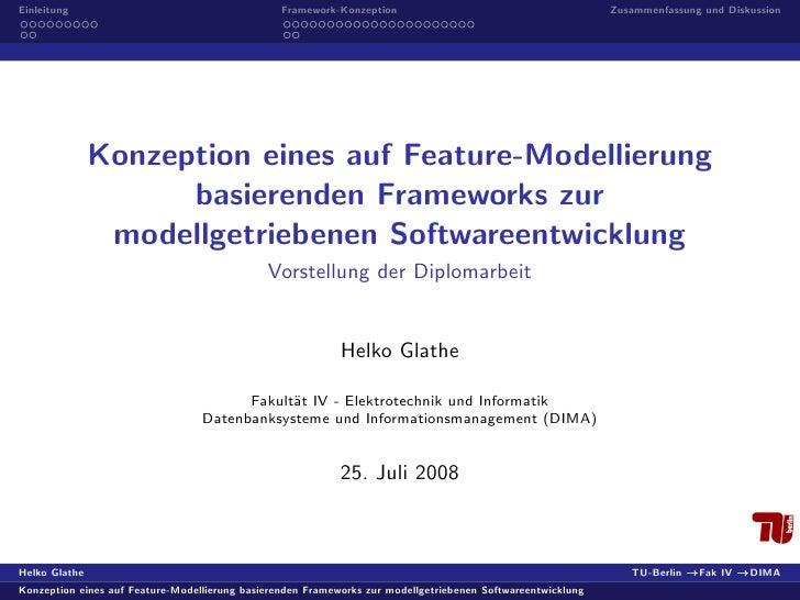 Einleitung                                       Framework-Konzeption                                        Zusammenfassu...