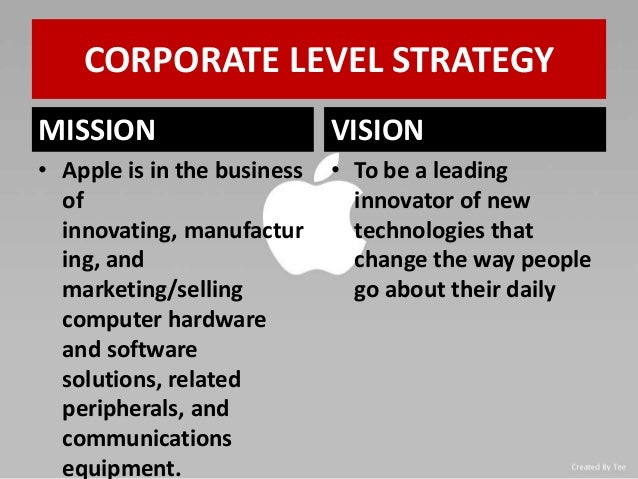 corporate and business strategy of apple Apple company - corporate level strategy introduction apple has made a number of alliances with several companies in its corporate history apple's business.
