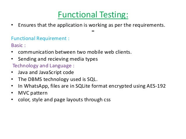 software testing on whatsapp