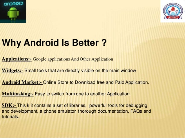 Ppt on android applications.