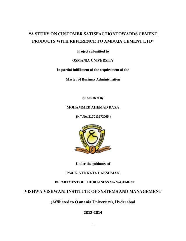 Osmania university phd thesis