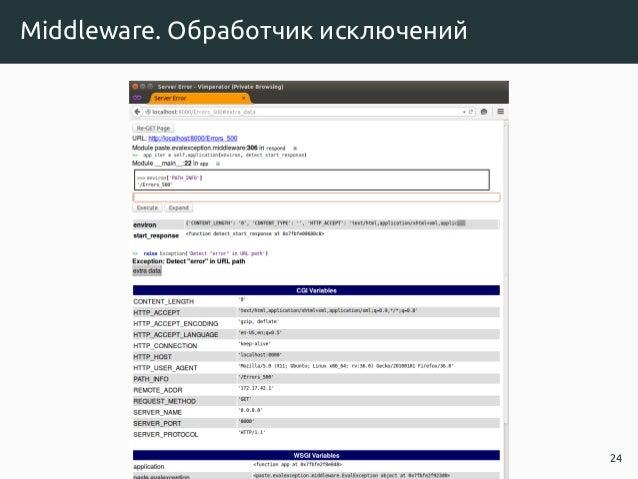 Middleware. Обработчик исключений 24