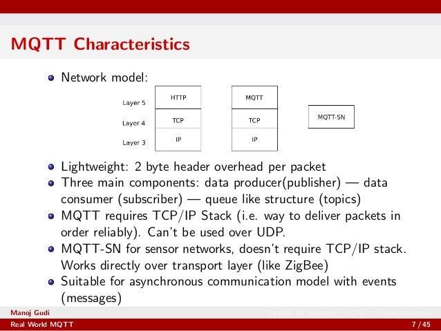 Real World Applications of MQTT