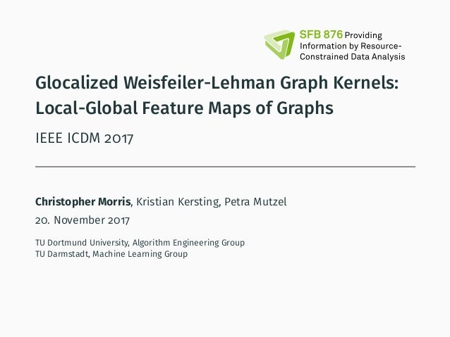 Glocalized Weisfeiler-Lehman Graph Kernels: Local-Global Feature Maps of Graphs IEEE ICDM 2017 Christopher Morris, Kristia...