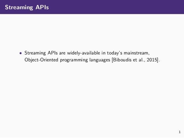 Safe Automated Refactoring for Intelligent Parallelization of Java 8 Streams Slide 3