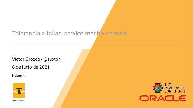 Tolerancia a fallas, service mesh y chassis Víctor Orozco - @tuxtor 8 de junio de 2021 Nabenik 1