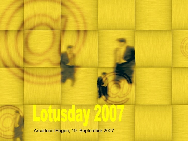 Lotusday 2007 Arcadeon Hagen, 19. September 2007