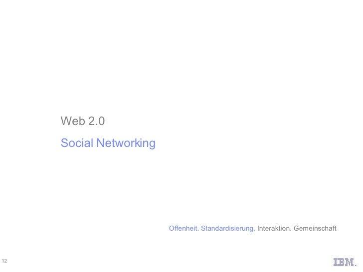 Web 2.0 Social Networking Offenheit. Standardisierung.  Interaktion. Gemeinschaft